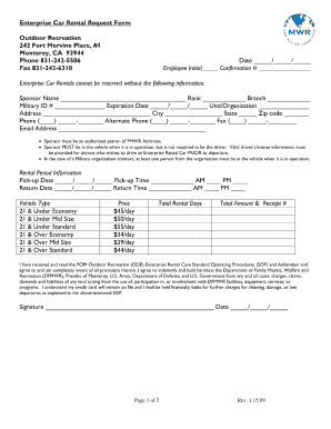 17 Printable Create A Car Rental Agreement Form Templates