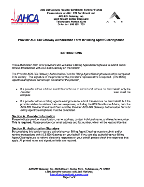 Acs Agent Authorization Form As Editable - Fill Online, Printable ...