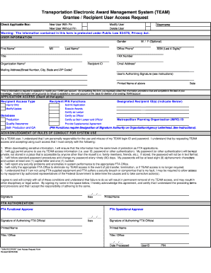 Team user access request form fill online printable for User access request form template