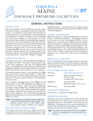 maine insurance premium tax returns