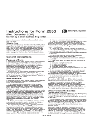 Irs form 2553 fillable 2007