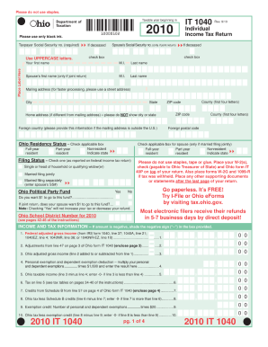Ohio it 1040 fillable form