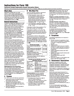 Form 199 Instructions - Fill Online, Printable, Fillable, Blank ...