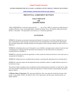 graphic regarding Free Printable Prenuptial Agreement Form identified as Prenuptial Settlement Inside Philippines - Fill On the internet, Printable