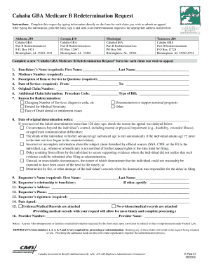 Cahaba Redetermination Form - Fill Online, Printable, Fillable ...