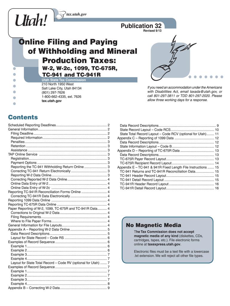 W2 Form Utah - Fill Online, Printable, Fillable, Blank   PDFfiller