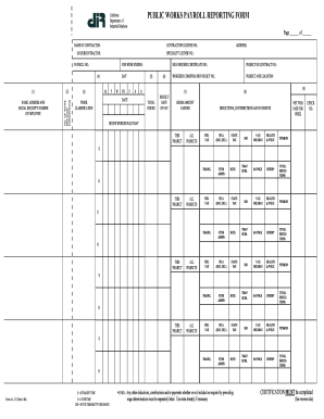 california public works payroll reporting form instructions