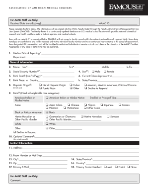 immunization form aamc question