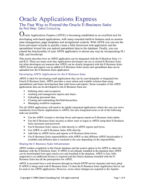 Fillable Online Oracle Applications Express Fax Email Print