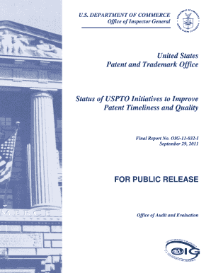 Status of USPTO Initiatives to Improve Patent Timeliness and Quality ... - oig doc