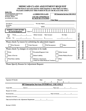 Nc Medicaid Claim Adjustment Request Form - Fill Online, Printable ...