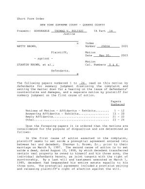 Bill of sale form new york prenuptial agreement sample templates short form order new york supreme court queens county present 207 platinumwayz