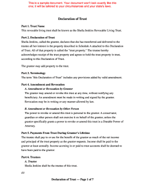 Trust Amendment Form | 19 Printable Revocable Living Trust Amendment Form Templates