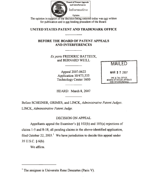 Administrative Patent Judge Cover Letter Example - Fill ...