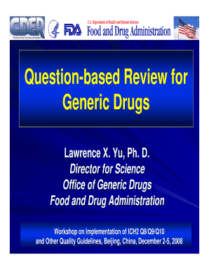 question based review generic drugs form