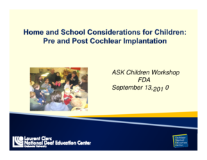 ASK Children Workshop - fda