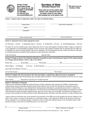 Illinois Request Form - Fill Online, Printable, Fillable, Blank ...