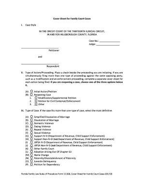12928 cover sheet for family court cases form