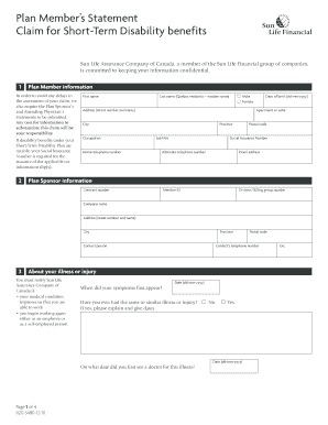 short term disability forms