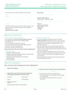 2011 Form UK HMRC UK P50 Fill Online, Printable, Fillable ...