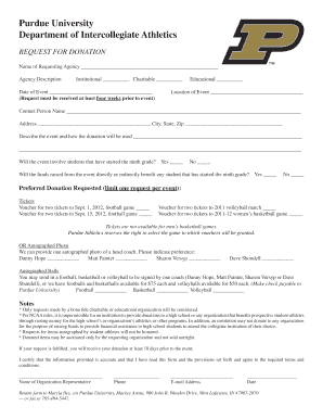 purdue donation request form