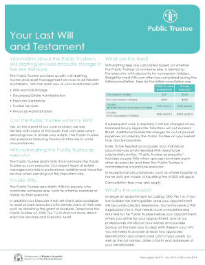 last will and testament brochures form