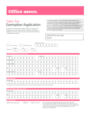 Office Depot Tax Exemption - Fill Online, Printable, Fillable ...