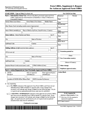 Form I 800a - Fill Online, Printable, Fillable, Blank | PDFfiller