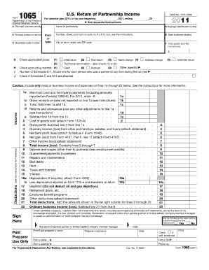 form 1065 u.s. return of partnership income  10 Printable form 10 due date Templates - Fillable Samples ...
