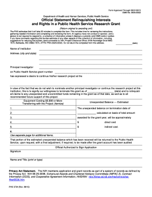 official statement form fill online printable fillable blank