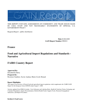Printable eu import regulations food - Edit, Fill Out