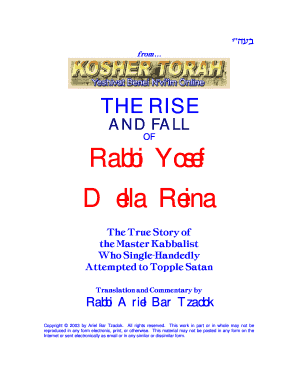 the rise and fall of rabbi yosef form