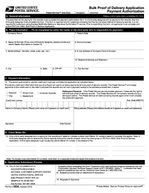 ps form 5054