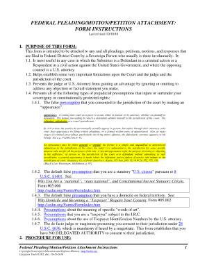 federal pleadings attachment form