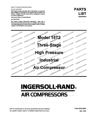 Manual Compresor Ir 15t2 - Fill Online, Printable, Fillable, Blank