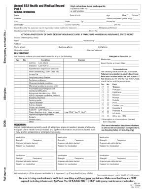 Bsa Medical Form Templates - Fillable & Printable Samples for PDF ...