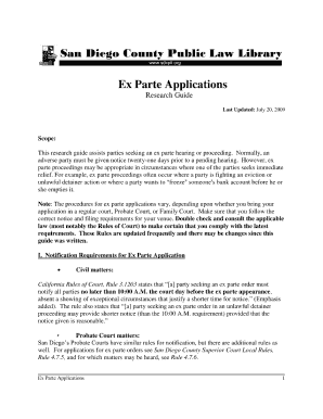 notice of application superior court charter pdf