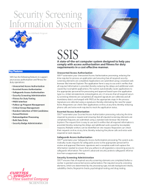 Security Screening Information System - Scientech