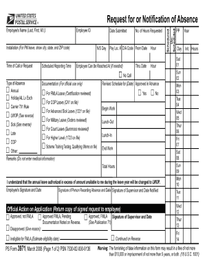 USPS PS 3971 Form Versions