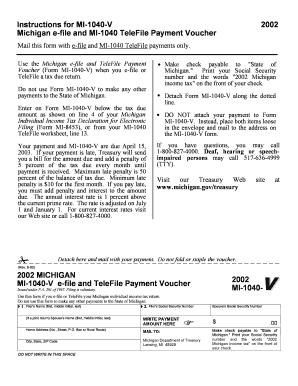 Mi 1040v - Fill Online, Printable, Fillable, Blank | PDFfiller