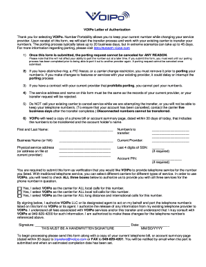 voipo authorization form