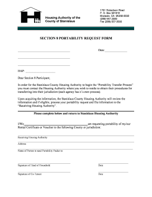 Nycha Section 8 Portabilty Request Form Download - Fill Online ...