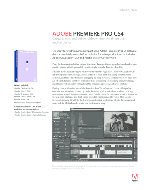 Adobe Premiere Pro CS4 What's New