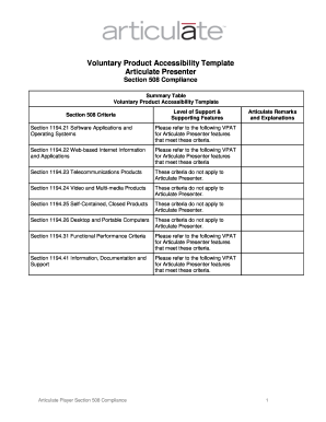 voluntary product accessibility template section 508 - fillable vpat form fill online printable fillable