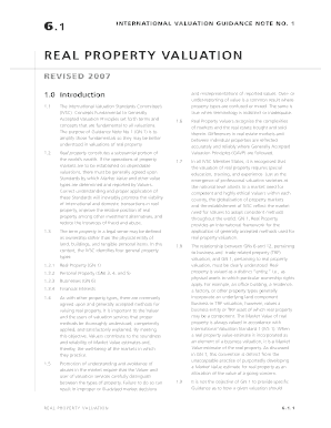 4international valuation guidance note no real property valuation revised 2007 form
