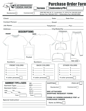 Fillable Online Embellishment Form - Atlas Embroidery & Screen ...