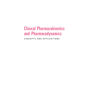 clinical pharmacokinetics concepts and applications form