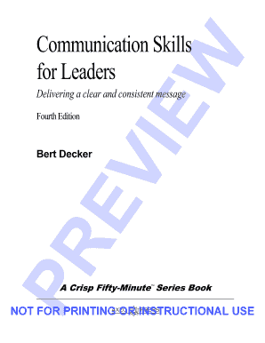 communication skills for leaders bert decker pdf form