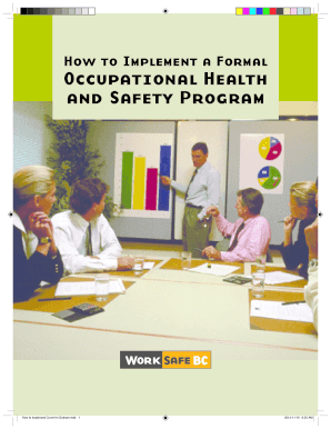 How to implement a formal occupational health ... - WorkSafeBC .com - worksafebc