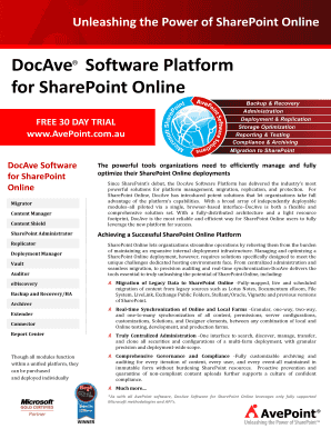 DocAve for SharePoint Online - AvePoint